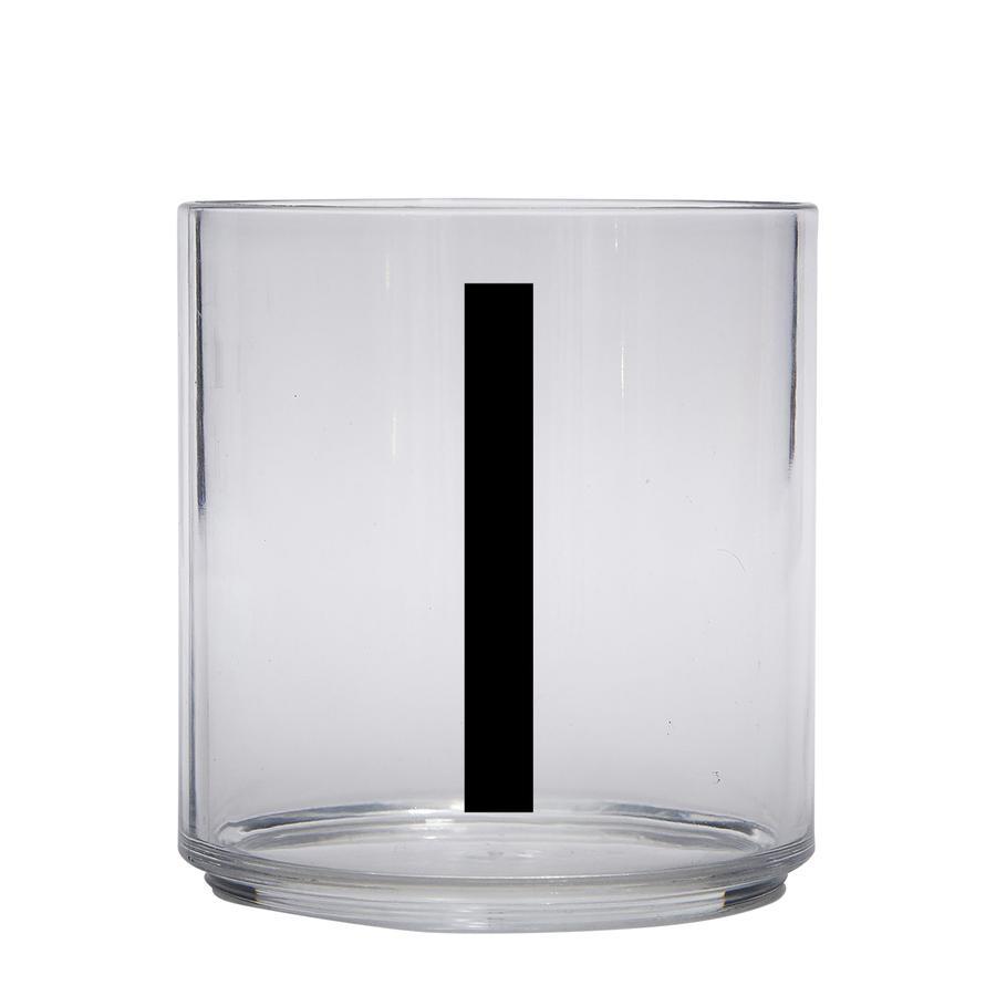 Design letters personalisiertes Trinkglas für Kinder Buchstabe I