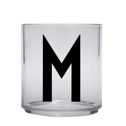 Design letters personalisiertes Trinkglas für Kinder Buchstabe M