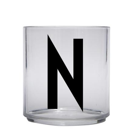 Design letters personalisiertes Trinkglas für Kinder Buchstabe N