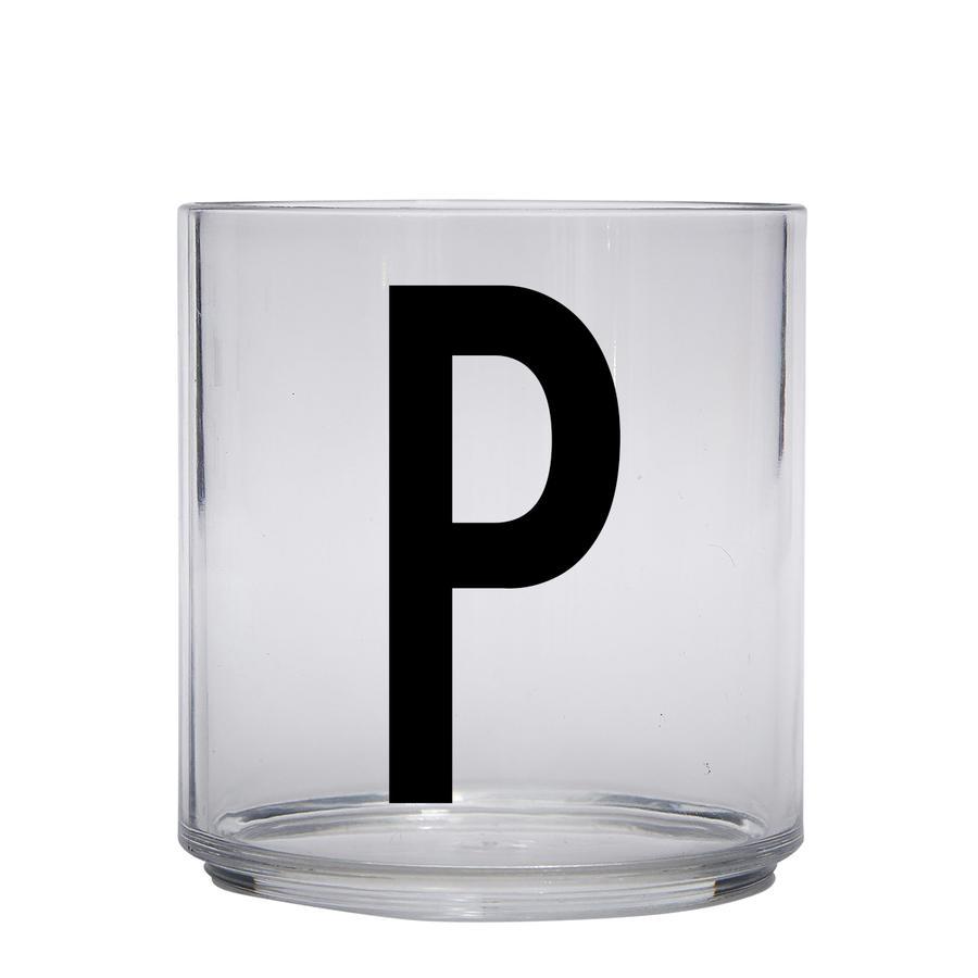 Design letters personalisiertes Trinkglas für Kinder Buchstabe P