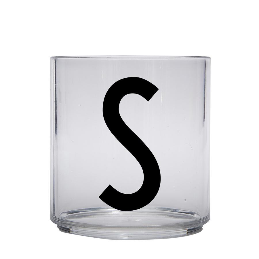 Design letters personalisiertes Trinkglas für Kinder Buchstabe S