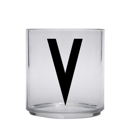 Design letters personalisiertes Trinkglas für Kinder Buchstabe V