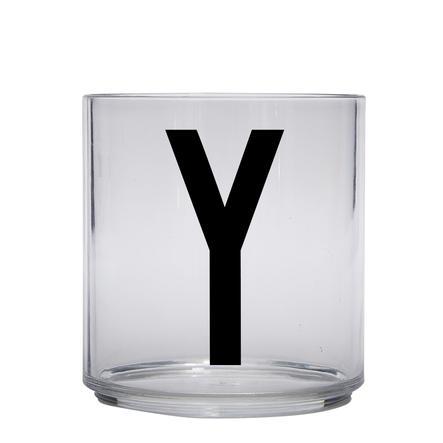Design letters personalisiertes Trinkglas für Kinder Buchstabe Y