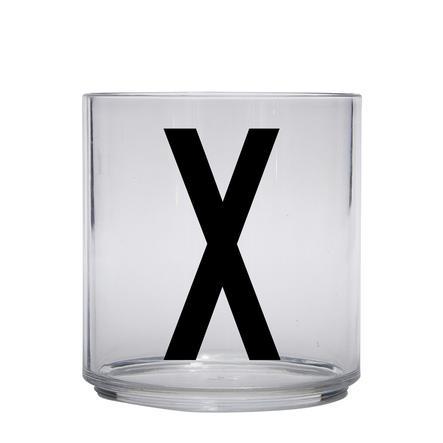 Design letters personalisiertes Trinkglas für Kinder Buchstabe X