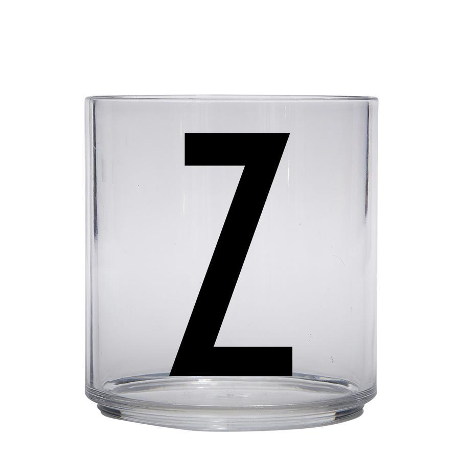 Design letters personalisiertes Trinkglas für Kinder Buchstabe Z