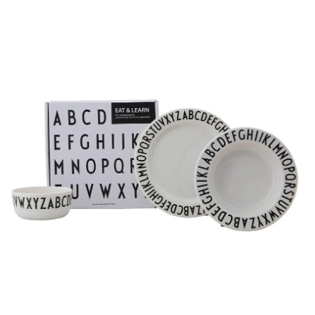 Design letters Geschenkbox EAT&LEARN in schwarz/weiß