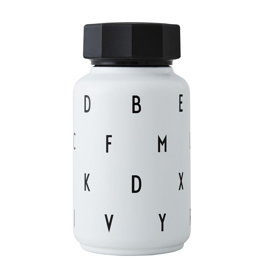 Design letters Thermische fles met stro 330 ml in het wit