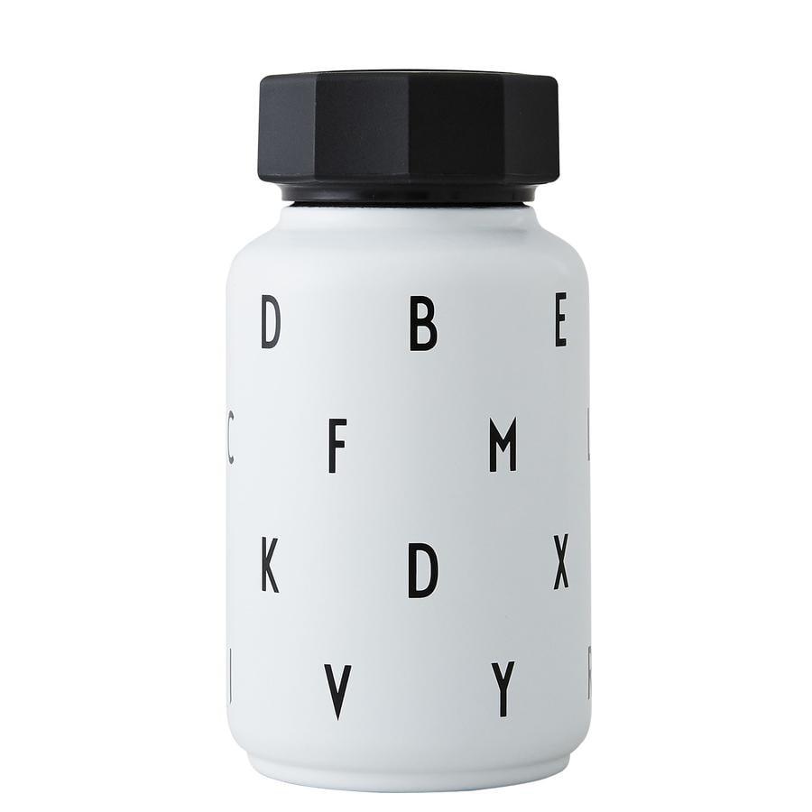 Design letters Termisk flaska med halm 330 ml i vitt