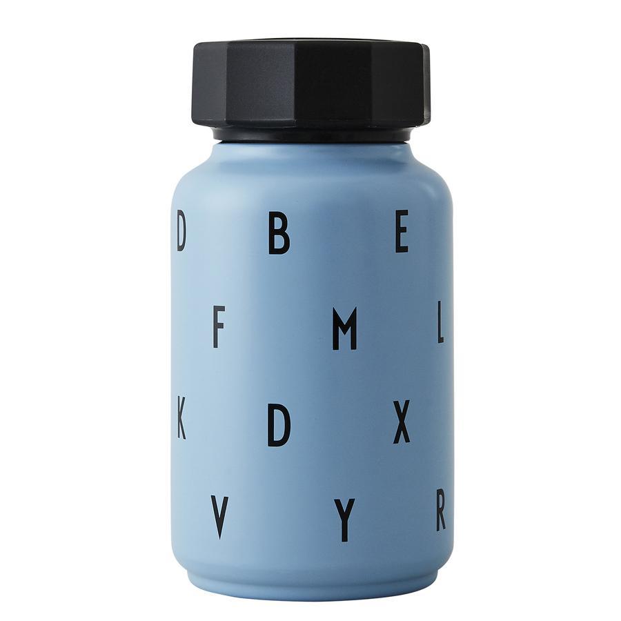 Design letters Thermos enfant paille bleu 330 ml