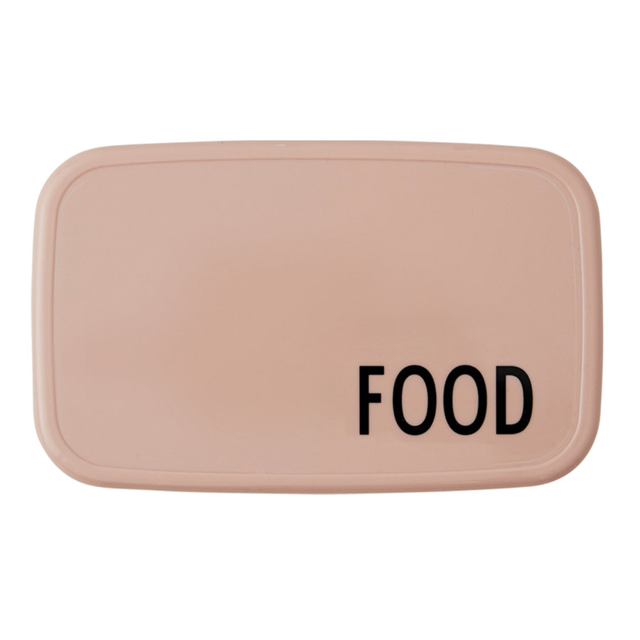 Design letters FOOD & LUNCH Box in nude