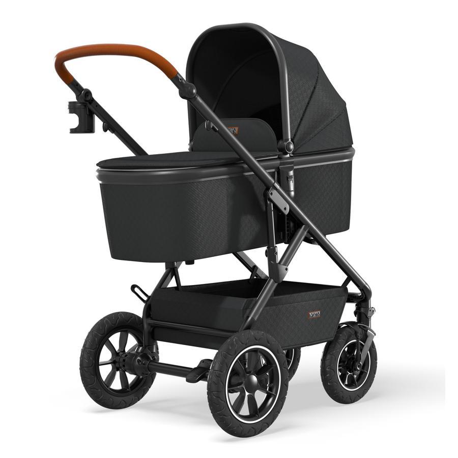 MOON Combi-kinderwagen Nuova Air Black / Black Collectie 2021