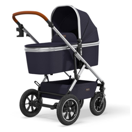 MOON Poussette duo combinée Nuova Air silver/navy collection 2021