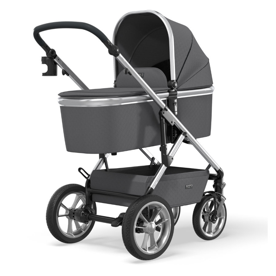MOON Poussette duo combinée Nuova silver/anthracite collection 2021