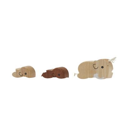 Kids Concept® Nachziehtier Mammutfamilie