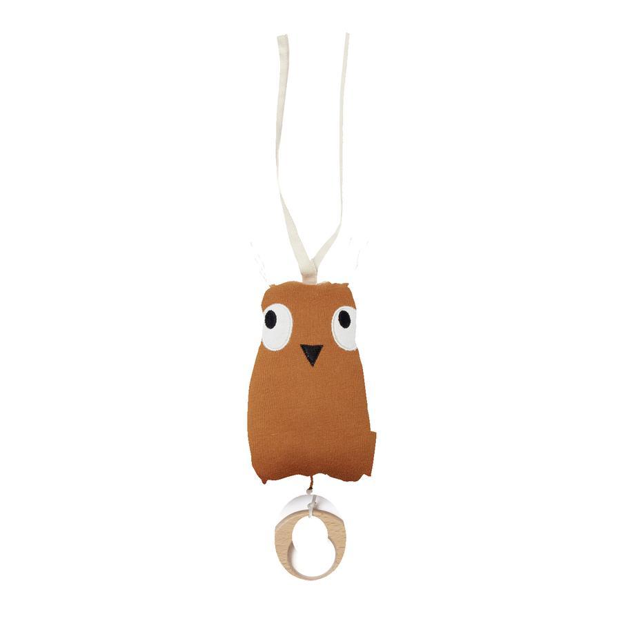 Kids Concept ® Hudební krabička sova Edvin, hnědá