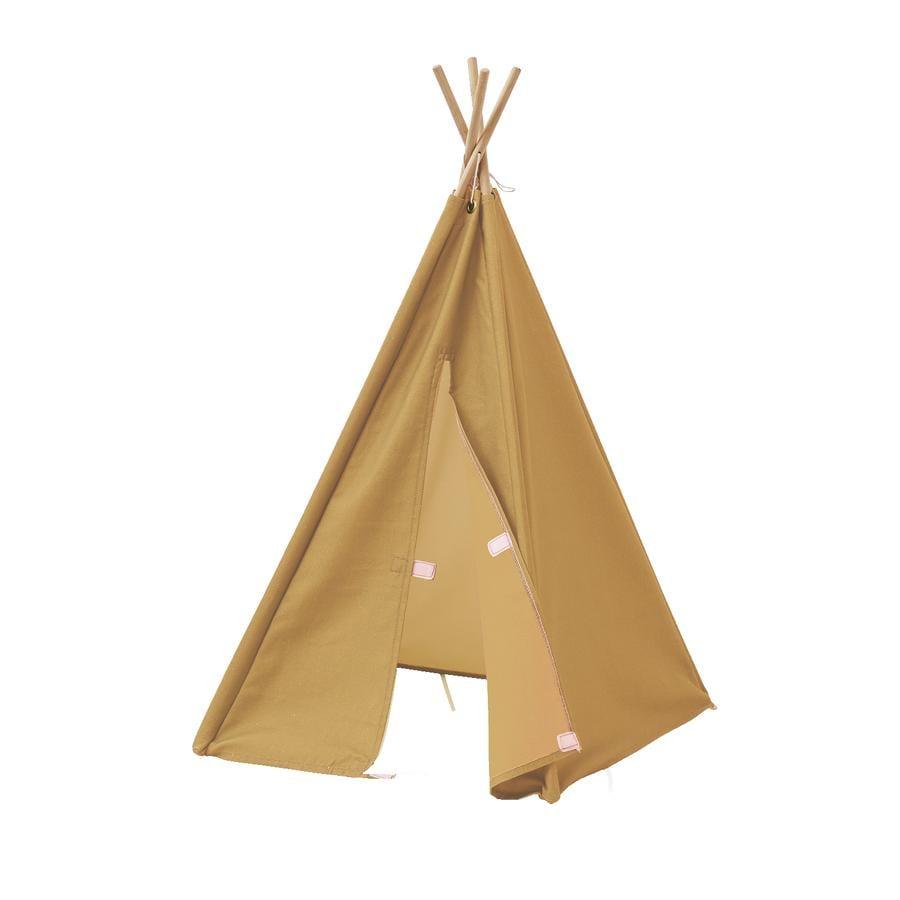 Kids Concept® Tipi Zelt Mini H 75 cm gelb