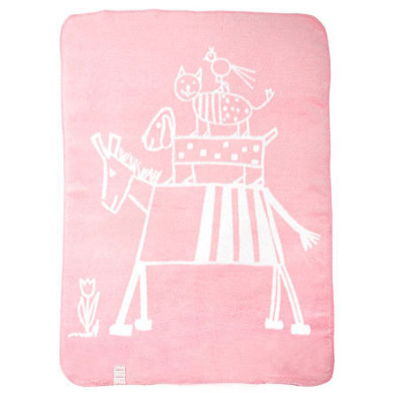 ALVI Babyfilt design rosa musikanter
