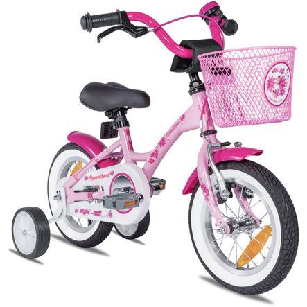 """PROMETHEUS BICYCLES® HAWK Kinderfahrrad 12"""" , roze-wit"""