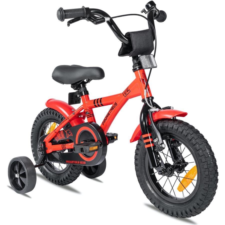 """""""PROMETHEUS BICYCLES ® RED HAWK barnesykkel 12 """"""""i rødt og svart fra 3 år"""""""
