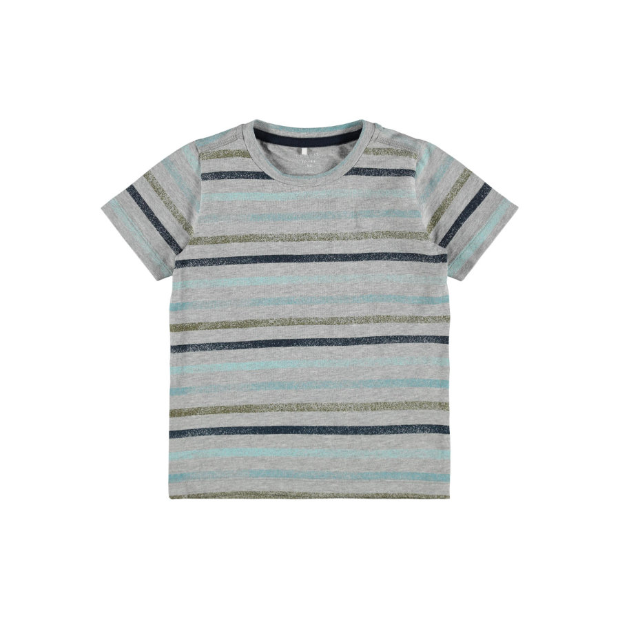 name it T-shirt Nmmfanti Grijs gemêleerd