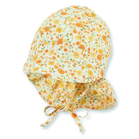 Sterntaler Bio-Schirmmütze mit Nackenschutz gelb