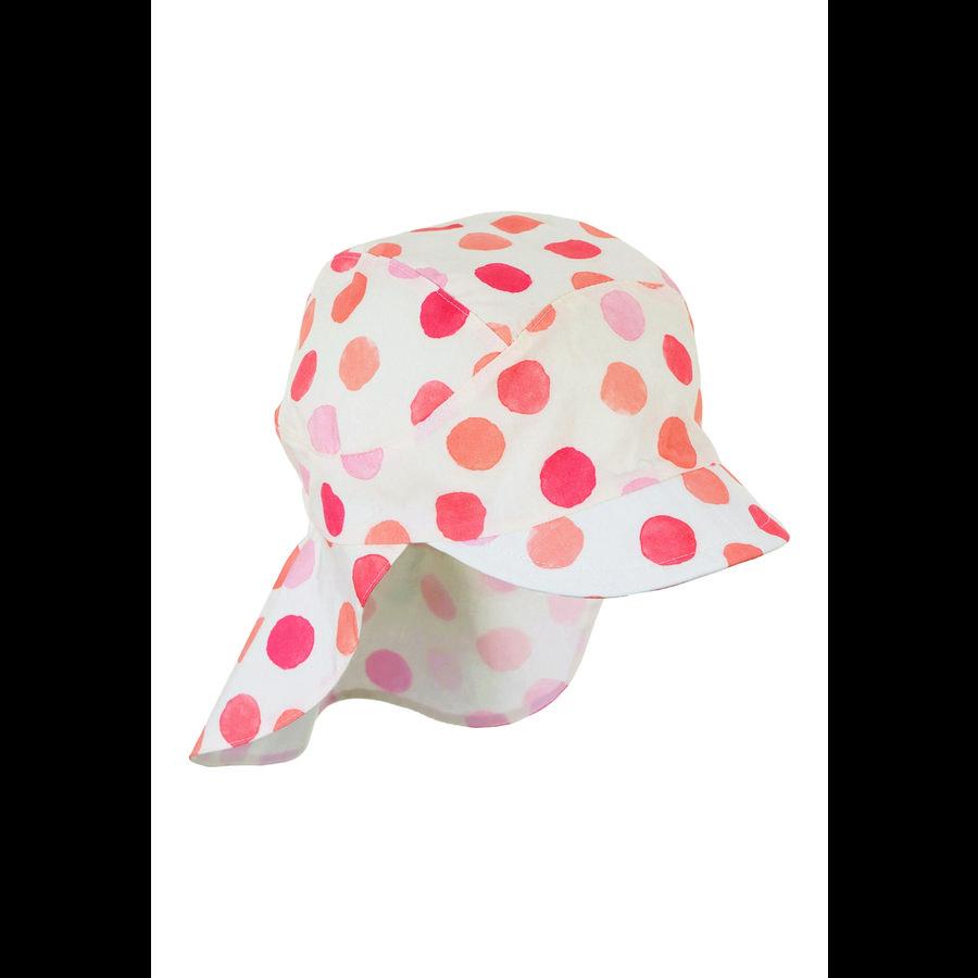 Sterntaler Schirmmütze mit Nackenschutz orange