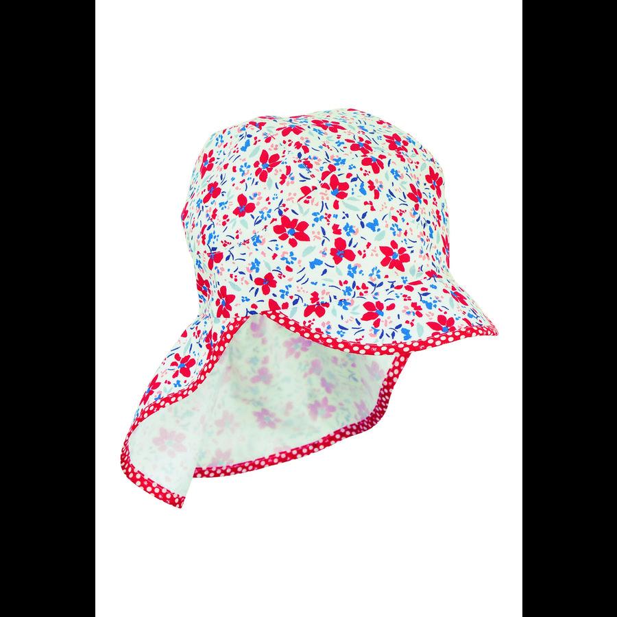 Sterntaler Schirmmütze mit Nackenschutz weiß
