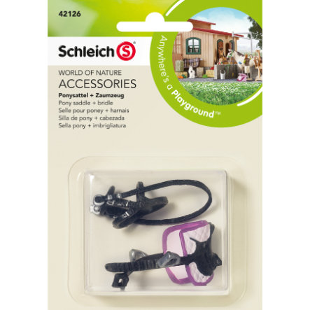 SCHLEICH Pony zadel + teugel 42126