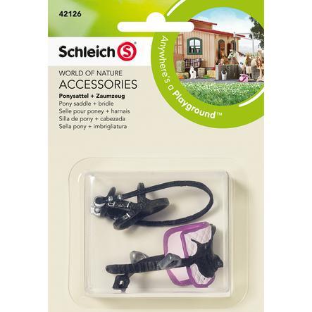 SCHLEICH Selle pour poney et harnais 42126