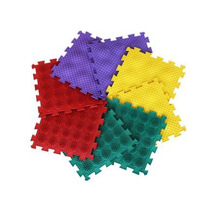 POLESIE® Tapis puzzle orthopédique Ortho-Puzzle mix hérisson, 8 pièces