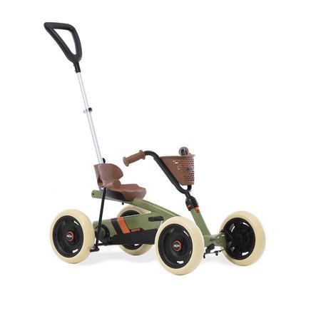 BERG Pedal Go-Kart Buzzy 2-in-1 Retro Green - Inkl. Schubstange