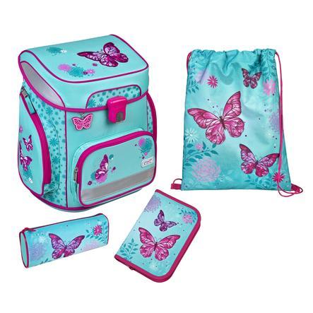 Scooli® EasyFit Schulranzen-Set Butterfly