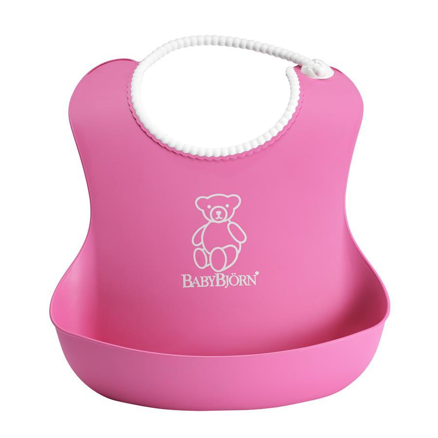 BABYBJÖRN Myk smekke med matoppsamler pink