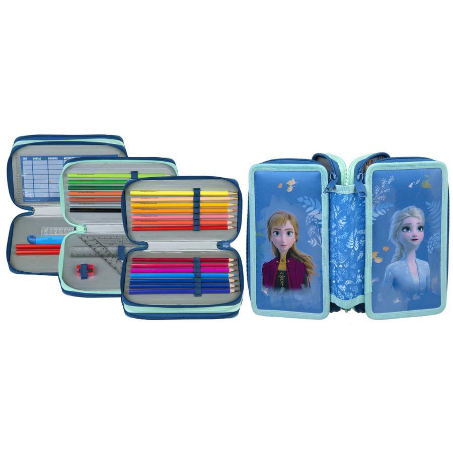UNDERCOVER Scooli Triple Decker Frozen , wypełniona walizka studencka