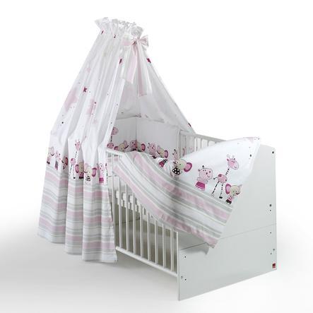 Schardt Parure de lit enfant 4 pièces Banjo Pink 40x60/100x135 cm