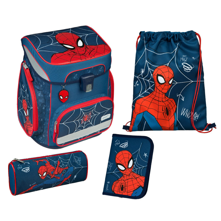 UNDERCOVER Scooli EasyFit School Bag Set Spider -Man