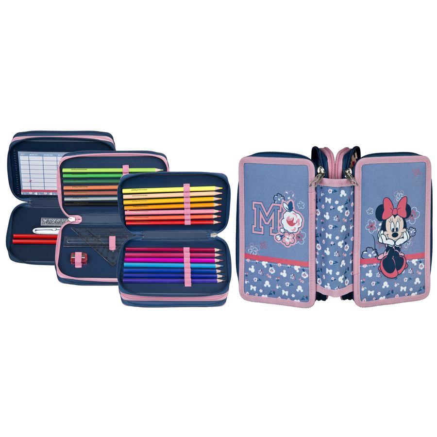 UNDERCOVER Scooli Triple Decker Minnie Mouse , valise d'étudiant remplie