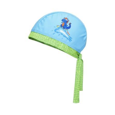 Playshoes  Bandana z ochroną UV Dino niebiesko-zielona