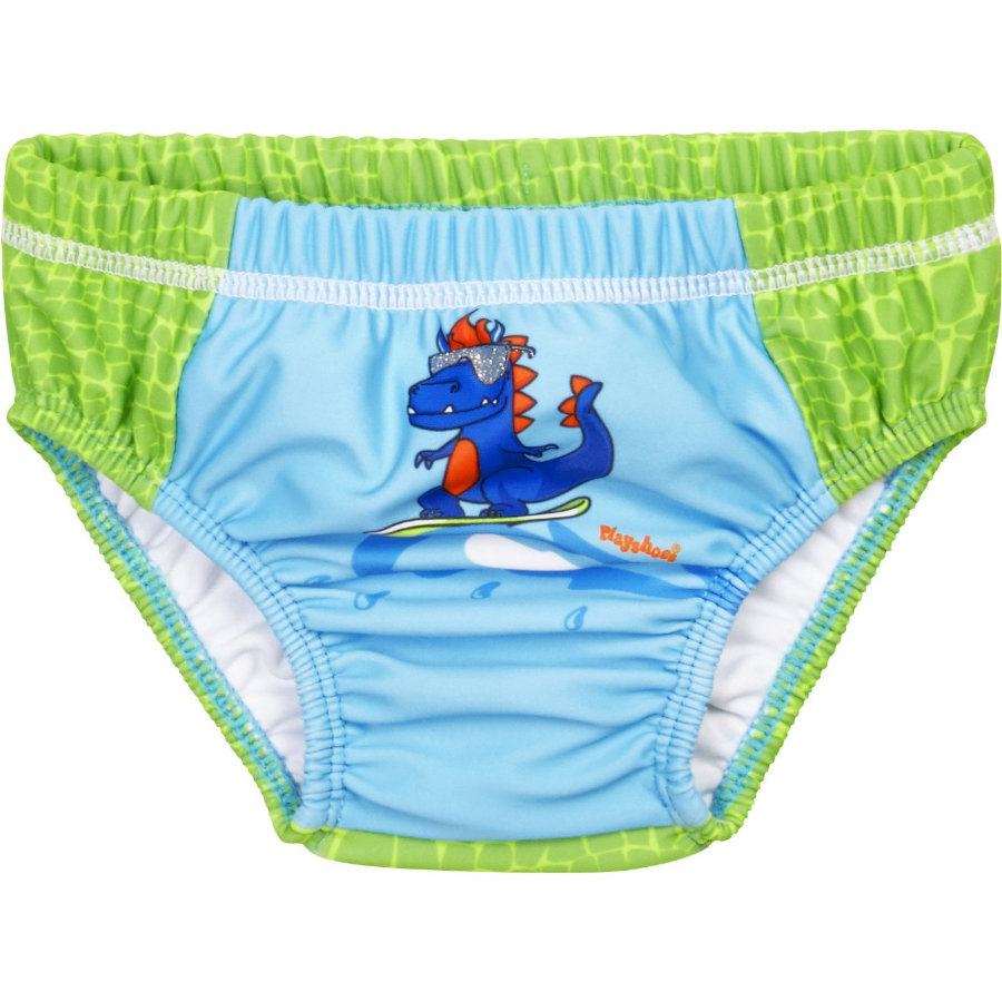 Playshoes UV-beskyttelse bleiebukse Dino blågrønn