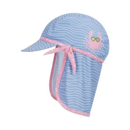 Playshoes  UV-beschermende kap krab blauw-roze