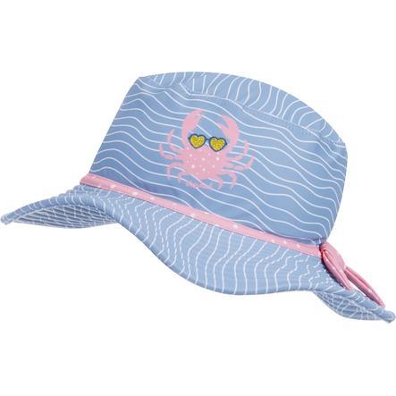 Playshoes UV-beskyttelse solhat krabbe blå-pink
