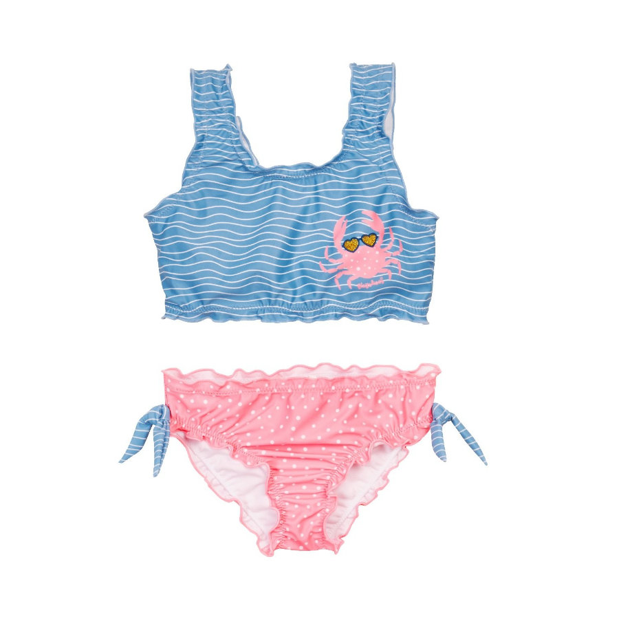 Playshoes  Protection UV bikini crabe bleu-rose