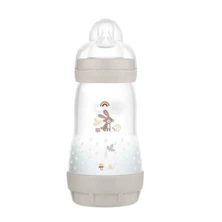 MAM Babyfles Easy Start Anti-koliek-Elementen 260 ml konijn in grijs
