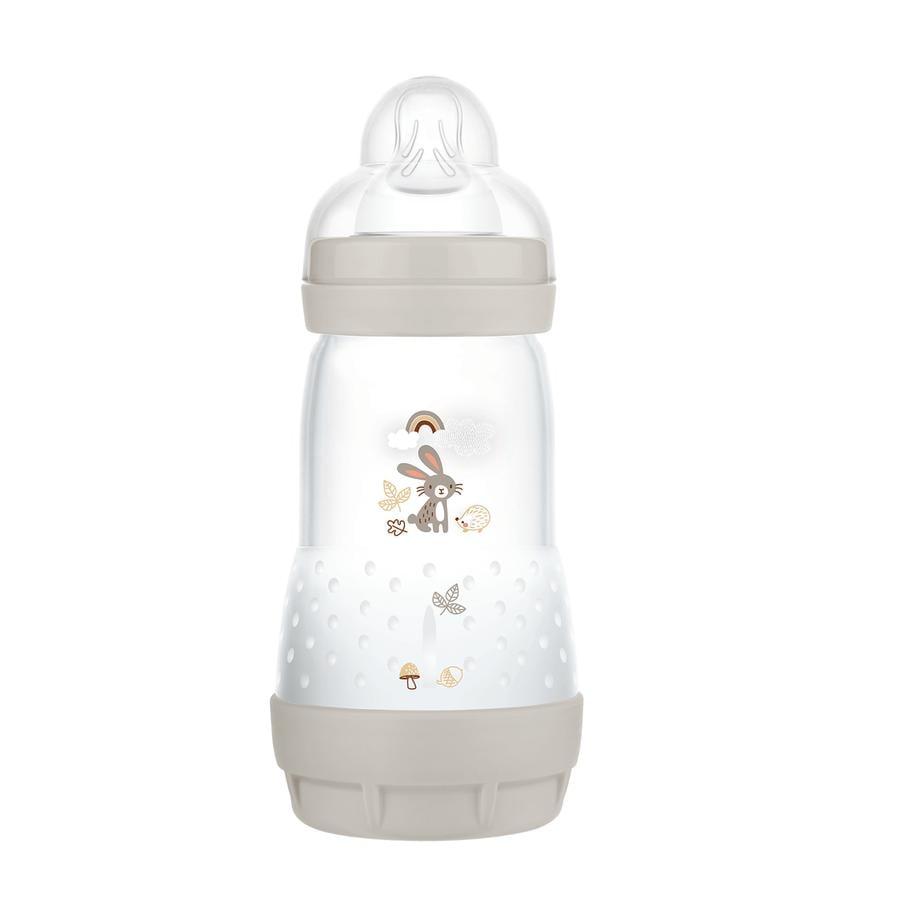 MAM Butelka dla niemowląt Easy Start Anti Colic-Elements 260 ml króliczek w kolorze szarym