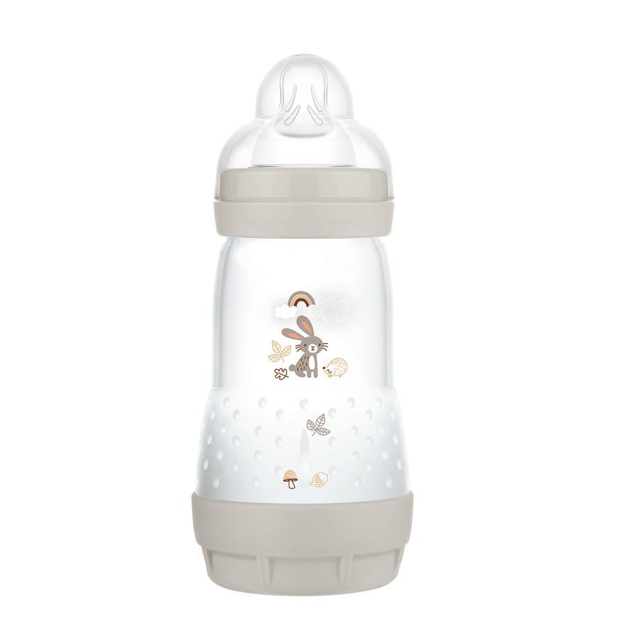 MAM Vauvapullo Easy Start Anti Colic-Elements 260 ml pupu harmaalla värillä