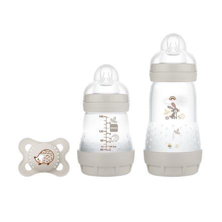 MAM Babyflasche Easy Start Anti Colic-Elements Starter Set S Hase in grau