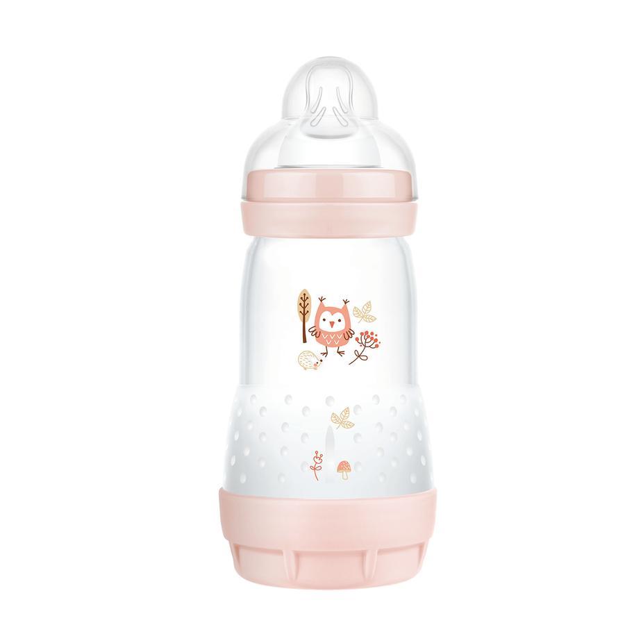 MAM Babyflasche Easy Start Anti Colic-Elements 260 ml Eule in rosa