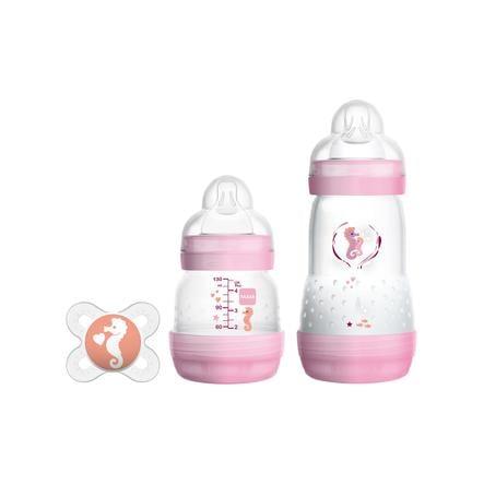 MAM Starter Set S Easy Anti-Colic dziewczynka w kolorze różowym