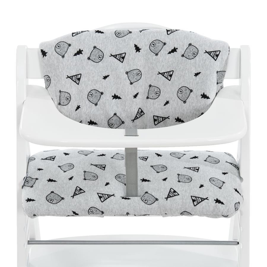 hauck Coussin d'assise pour chaise haute enfant Deluxe Nordic Grey