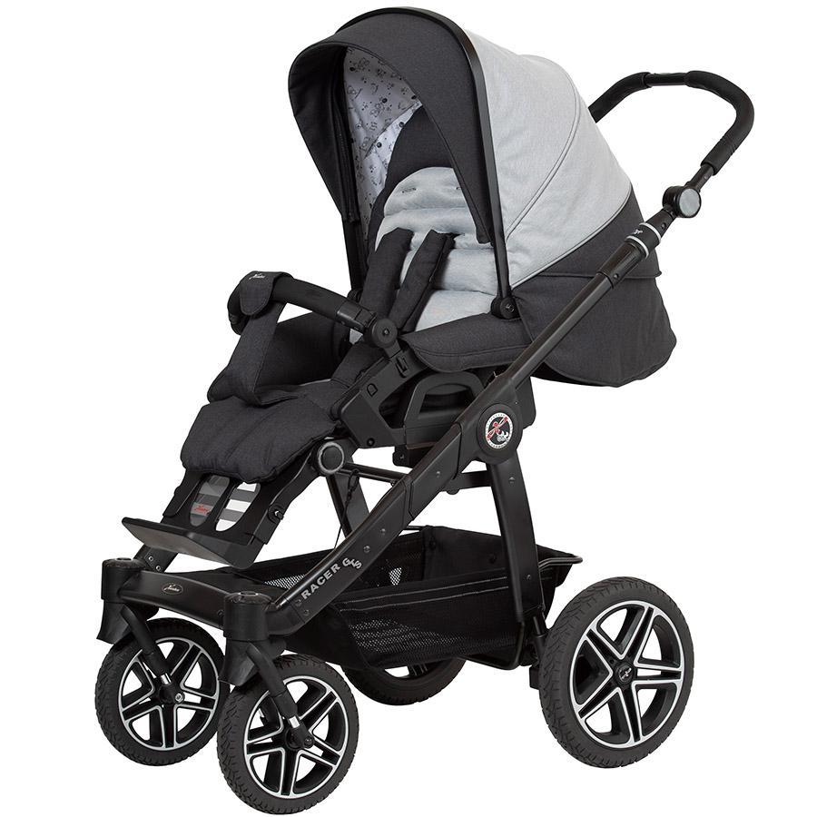 Hartan Sittvagn Racer GTS med handbroms nyfödd nalle (411) Ramfärg svart